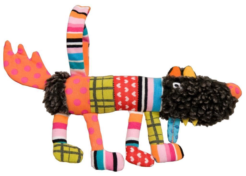 Купить Мягкая игрушка Ebulobo Сосиска Волчонок S 20 см, Мягкие игрушки животные