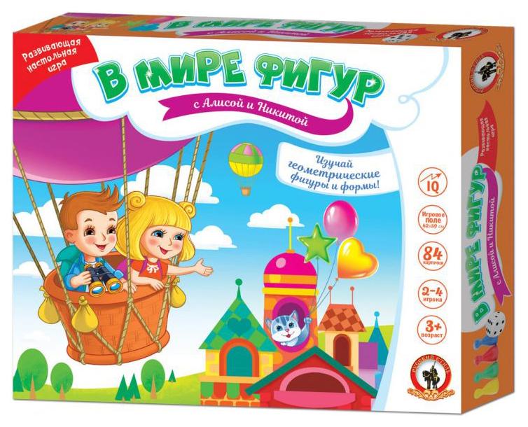 Купить Дидактическая игра Русский Стиль В мире фигур с Алисой и Никитой, Русский стиль,
