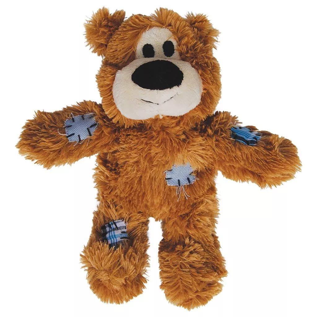 Мягкая игрушка для собак KONG Мишка с канатом, в ассортименте, длина 10 см