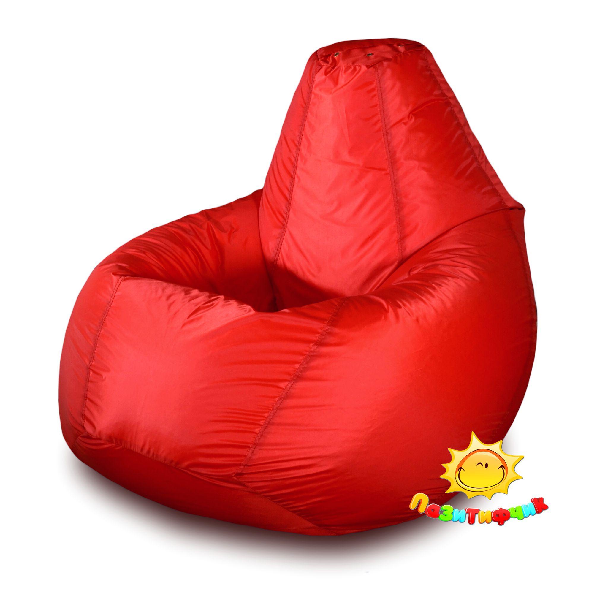 Кресло-мешок Pazitif Груша Пазитифчик Оксфорд, размер XXXL, оксфорд, красный фото