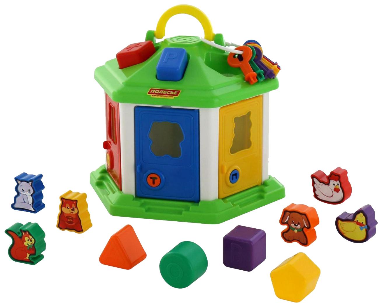 Купить Развивающая игрушка Полесье Логический домик №2 П-62307, Развивающие игрушки