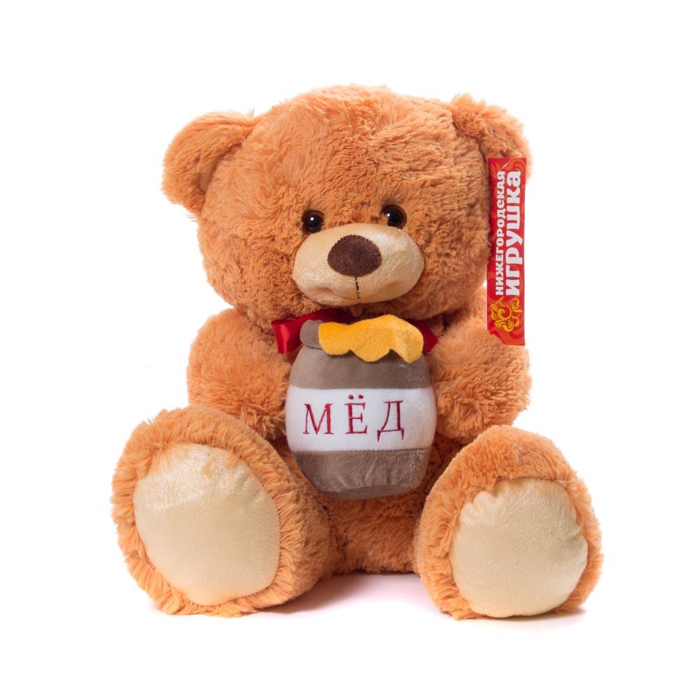 Купить Мягкая игрушка Мишка малый с медом 45 см Нижегородская игрушка См-420-5, Мягкие игрушки животные