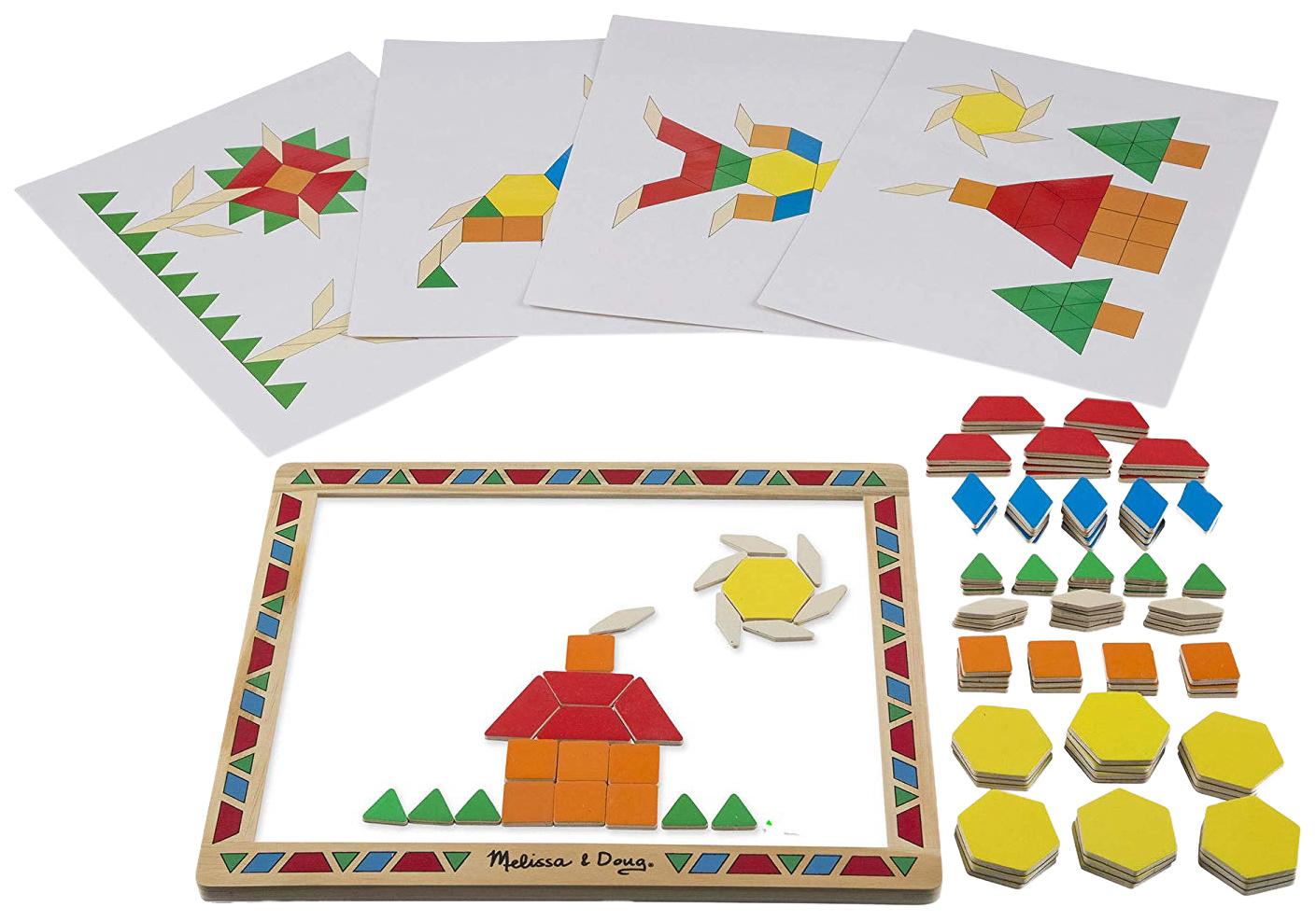 Купить Деревянная игрушка Melissa&doug Набор магнитных деталей Придумай свой рисунок, Melissa & Doug,