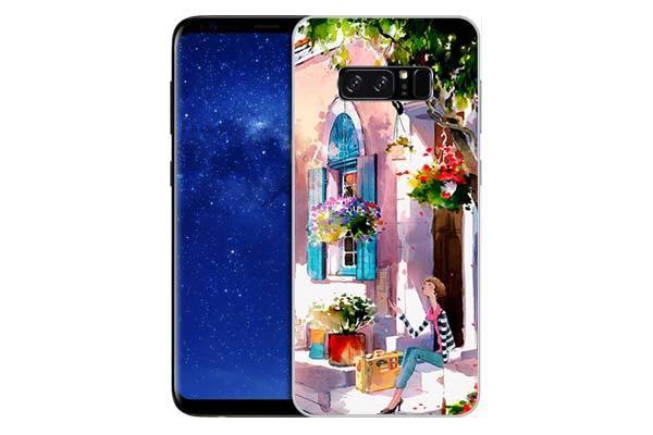 Чехол Gosso Cases для Samsung Galaxy Note 8 «Девочка на цветущей улочке»