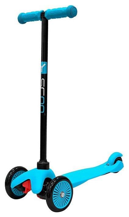 Купить Самокат Y-SCOO mini A-5 Simple blue с етными колесами, Самокаты детские трехколесные