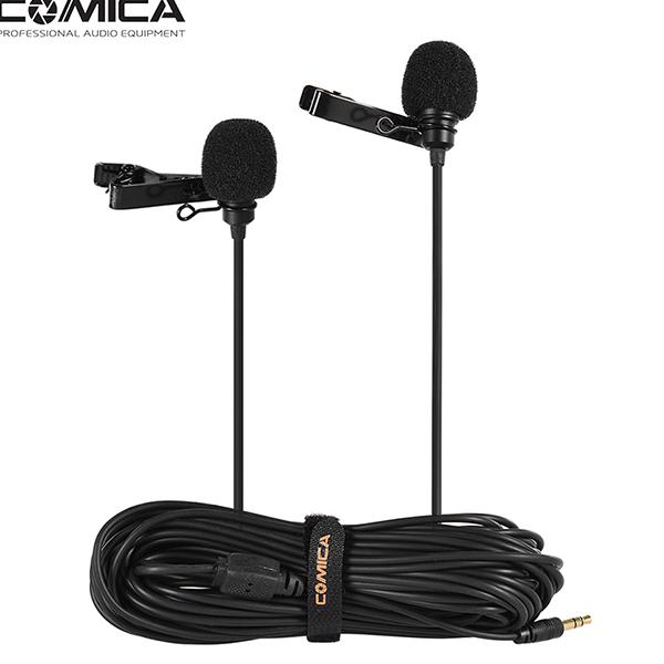 Петличный микрофон двойной COMICA CVM-D02
