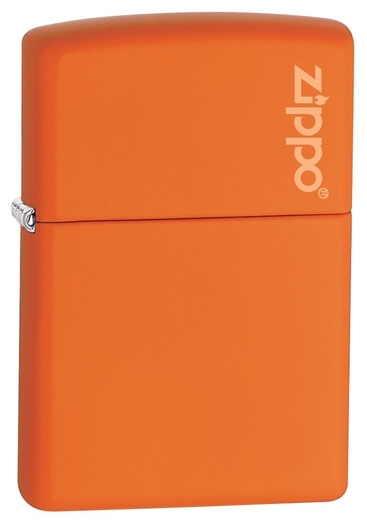 Зажигалка Zippo Logo 231ZL Orange Matte