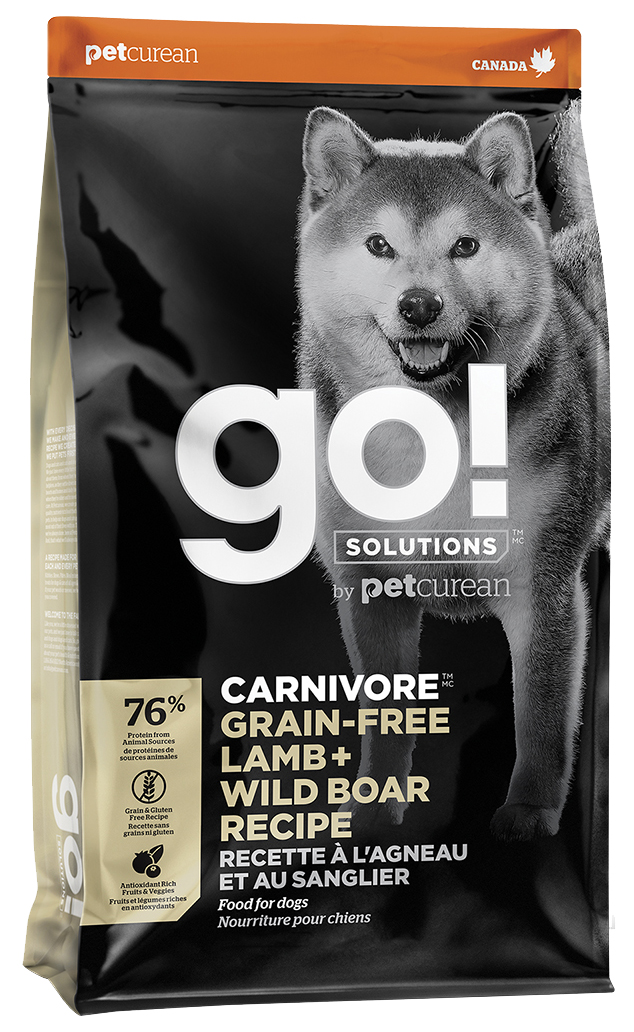 GO  CARNIVORE GRAIN FREE LAMB + WILD BOAR DOG RECIPE