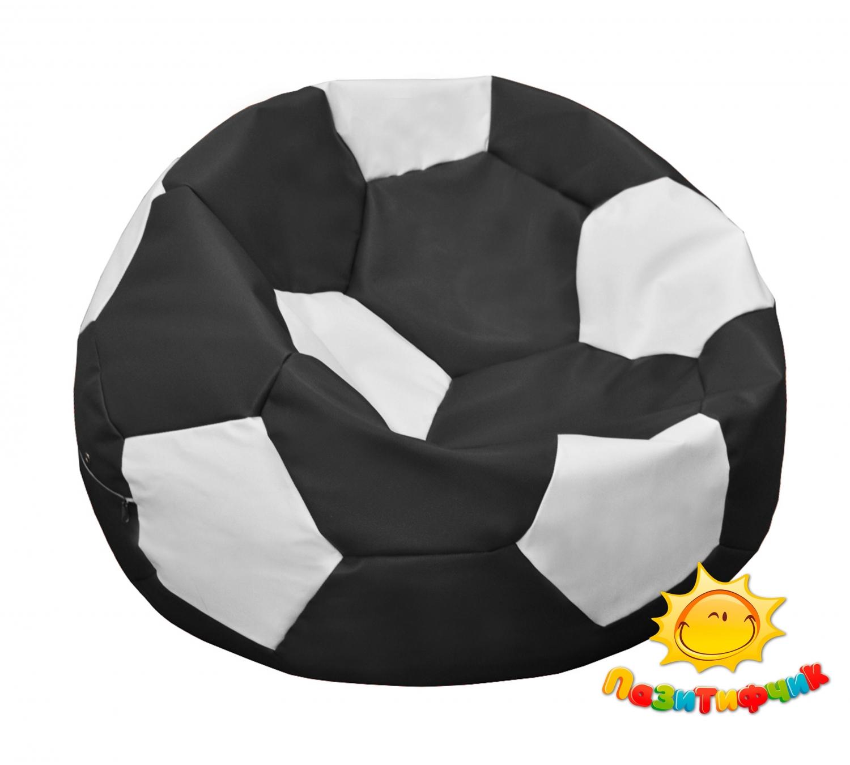 Кресло-мяч Pazitif Мяч Пазитифчик, размер M, экокожа, черно-белый фото