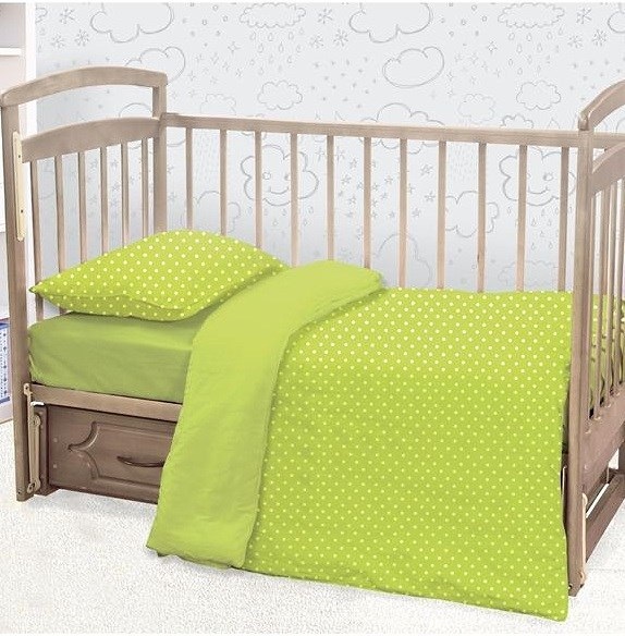 Детское постельное белье ЭТЕЛЬ Effie Цвет: Зеленый (112х147 см)