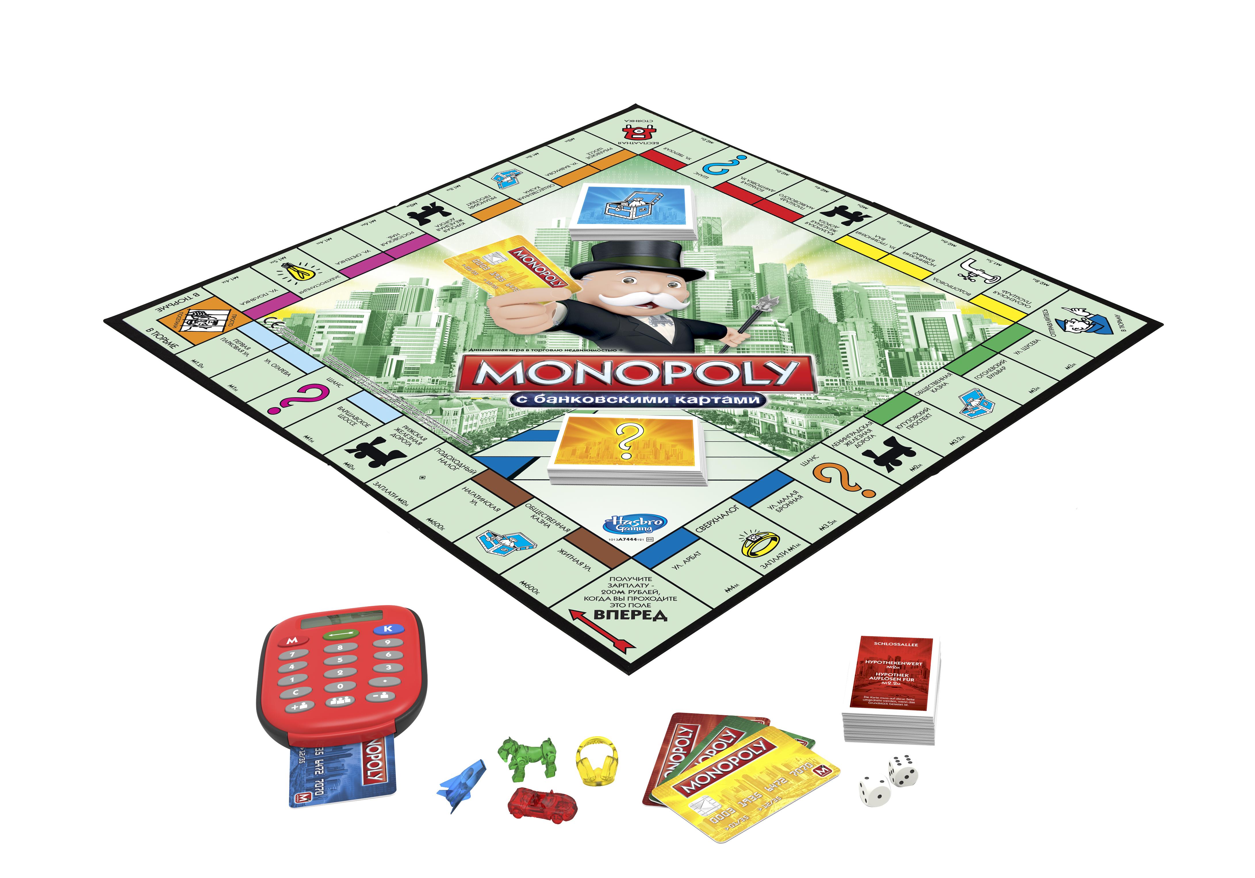 Экономическая настольная игра монополия с банковскими картами a7444