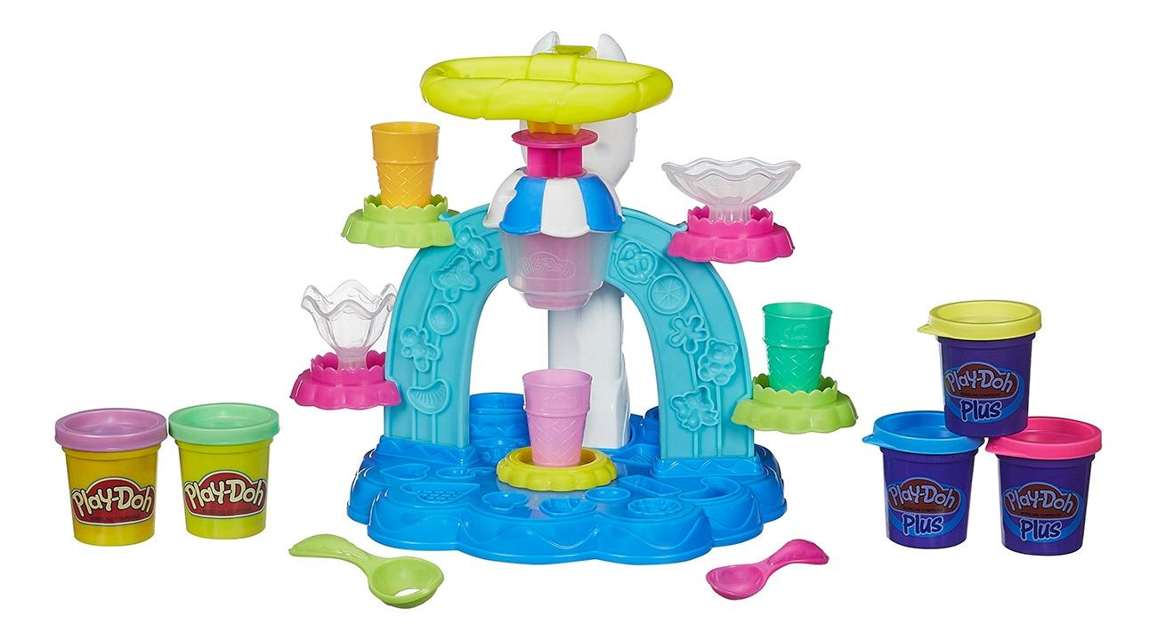Купить Фабрика Мороженого, Набор для лепки из пластилина play-doh фабрика мороженого b0306, Лепка