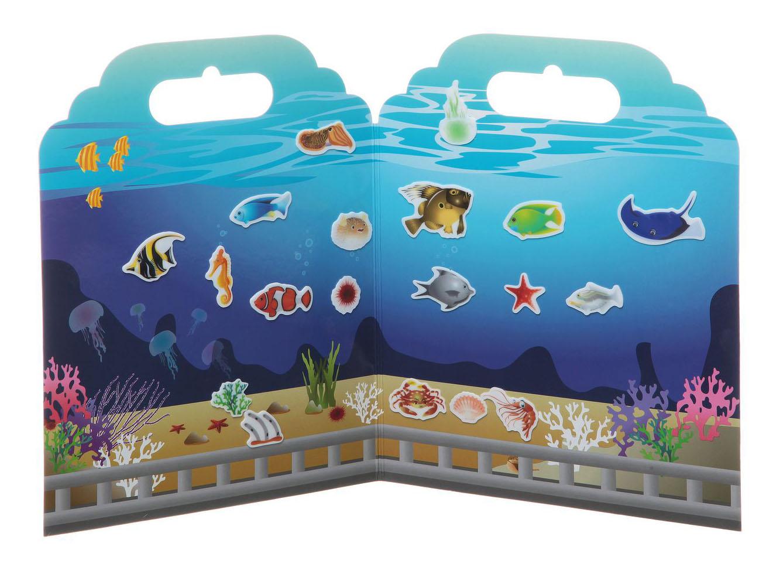 Купить Набор наклеек Нано-стикер Аквариум, 19х24 см., арт. TP-S19, Набор наклеек нано-стикер аквариум, Bondibon 19х24 см, Аксессуары для детской комнаты
