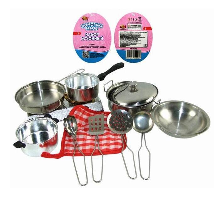 Помогаю маме. Набор посуды металлической для кухни pt-00265, wk-b0954 фото