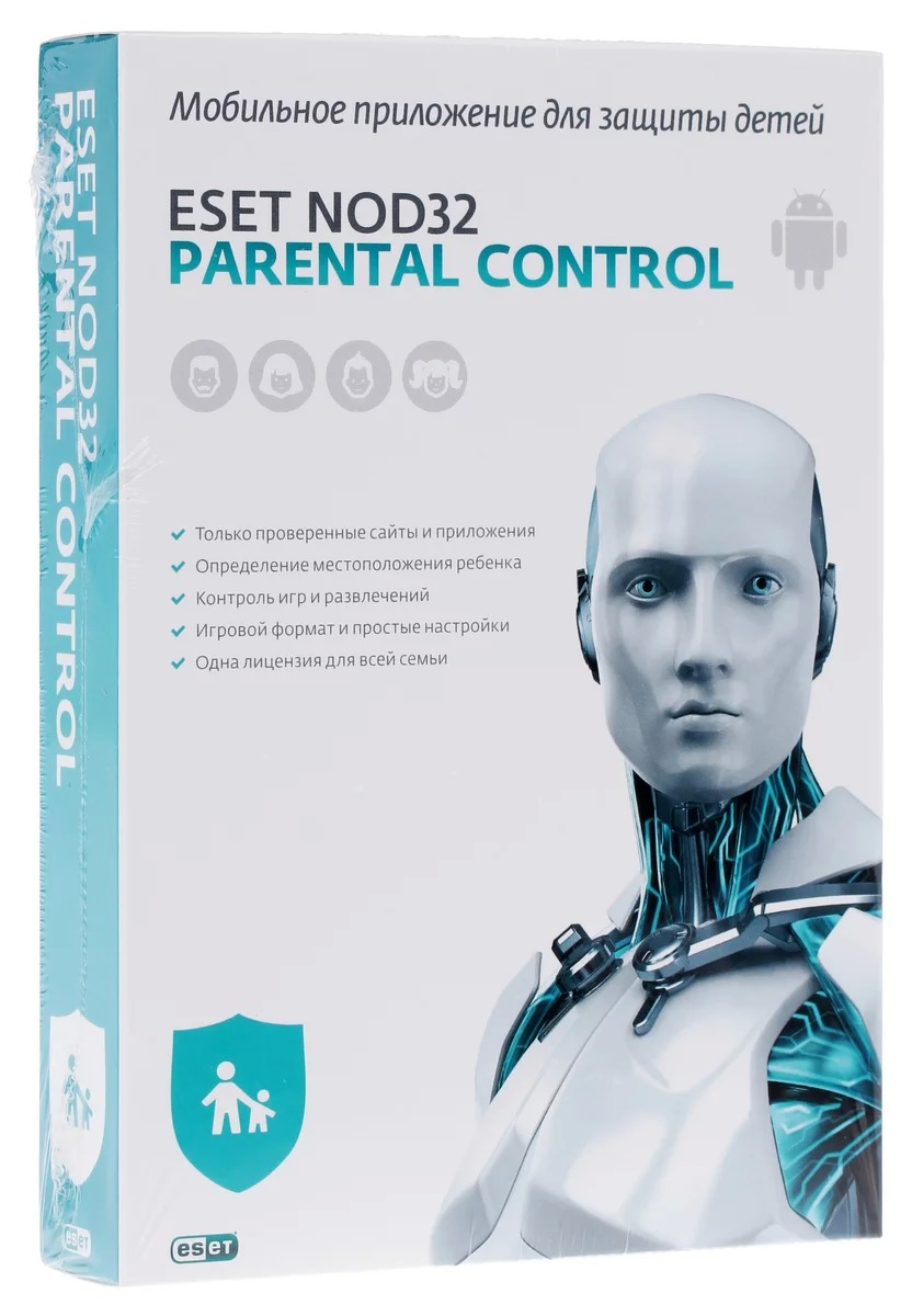 Антивирус ESET NOD32-EPC-NS(BOX)-1-1 Parental Control для всей семьи на 12 мес. фото