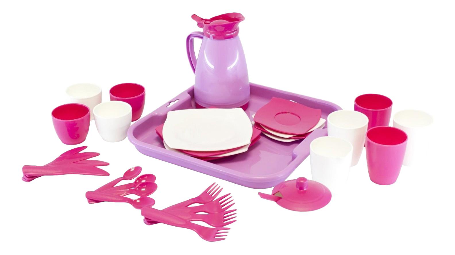 Набор посуды игрушечный Полесье Алиса с подносом