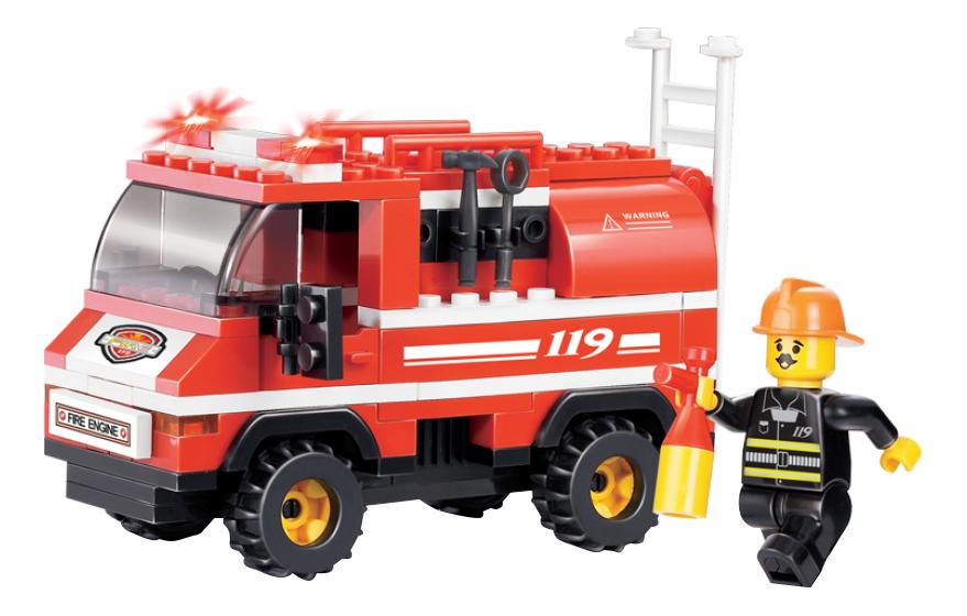 Конструктор пластиковый Sluban Маленькая пожарная машина