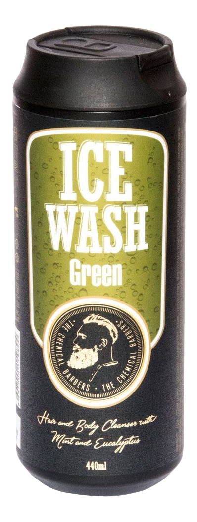 Гель для душа CHEMICAL BARBERS ICE WASH GREEN с мятой и эвкалиптом 440 мл фото