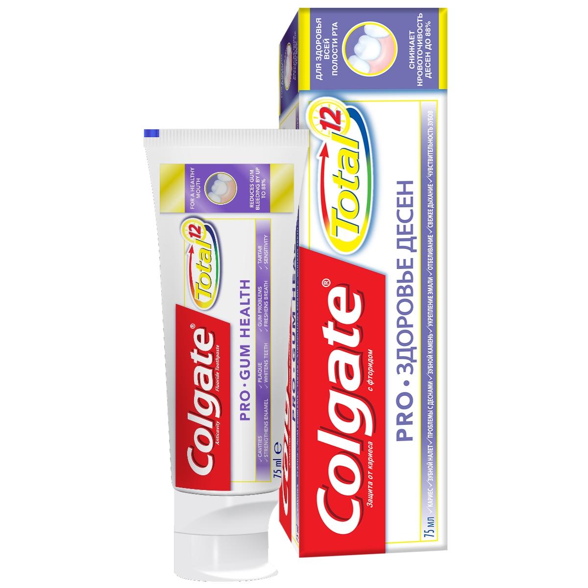 Зубная паста Colgate TOTAL 12 Pro-Здоровье десен 75 мл