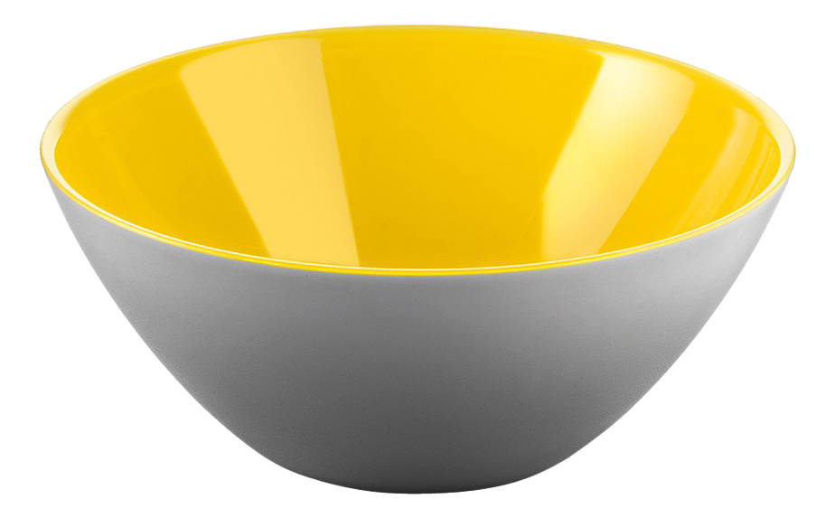 Салатница My Fusion 20 см серая/желтая, Guzzini