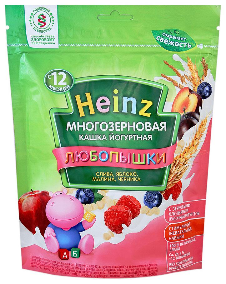 Каша молочная Heinz Многозерновая йогуртная слива, яблоко, малина, черника с 12 мес. 200 г