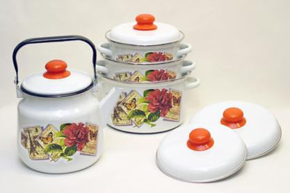 Набор посуды Париж-ретро 4 предмета
