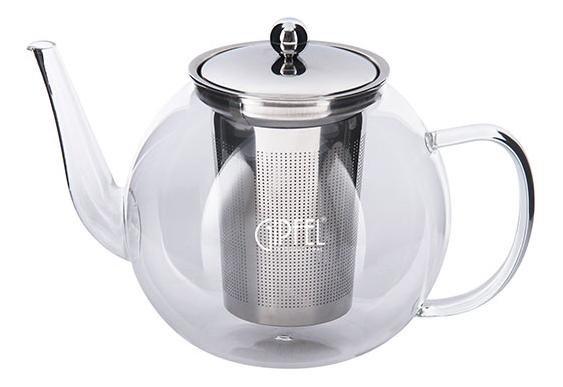 GIPFEL Стеклянный заварочный чайник с ситечком SOFIE 1200мл