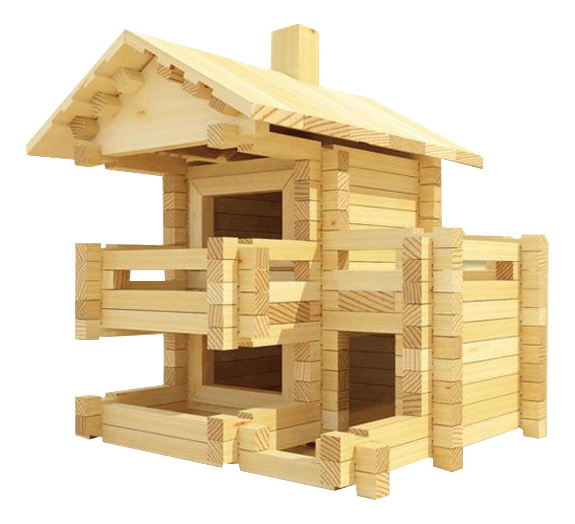 Купить Конструктор деревянный Лесовичок Разборный домик №3, Деревянные конструкторы