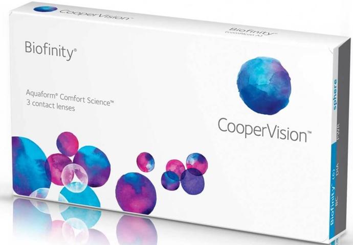 Контактные линзы Biofinity 3 линзы -3,75 фото