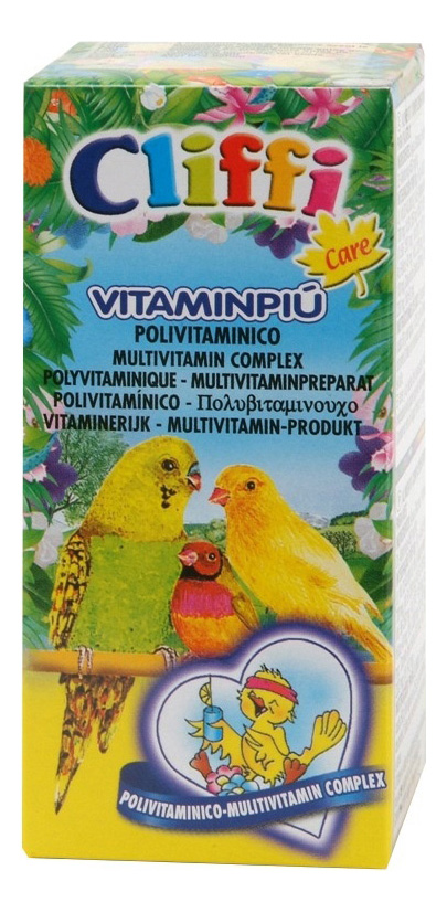 Витамины для птиц Cliffi Vitaminpiu, Полный мультивитамин