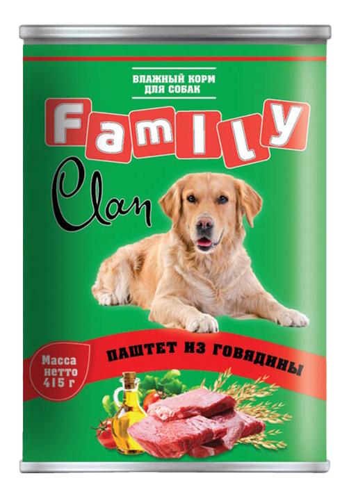 Консервы для собак Clan Family, говядина, 415г