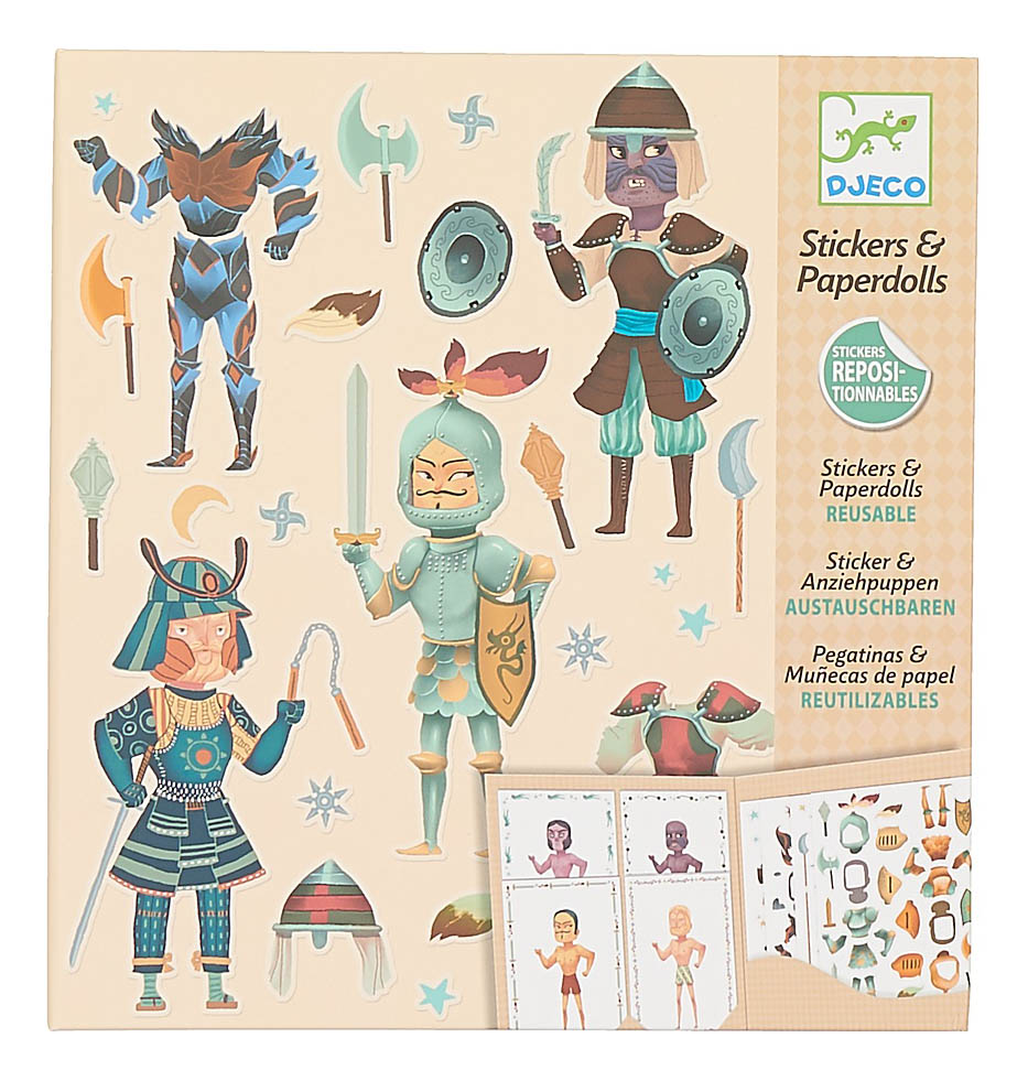 Наклейка декоративная для детской комнаты Djeco Рыцари