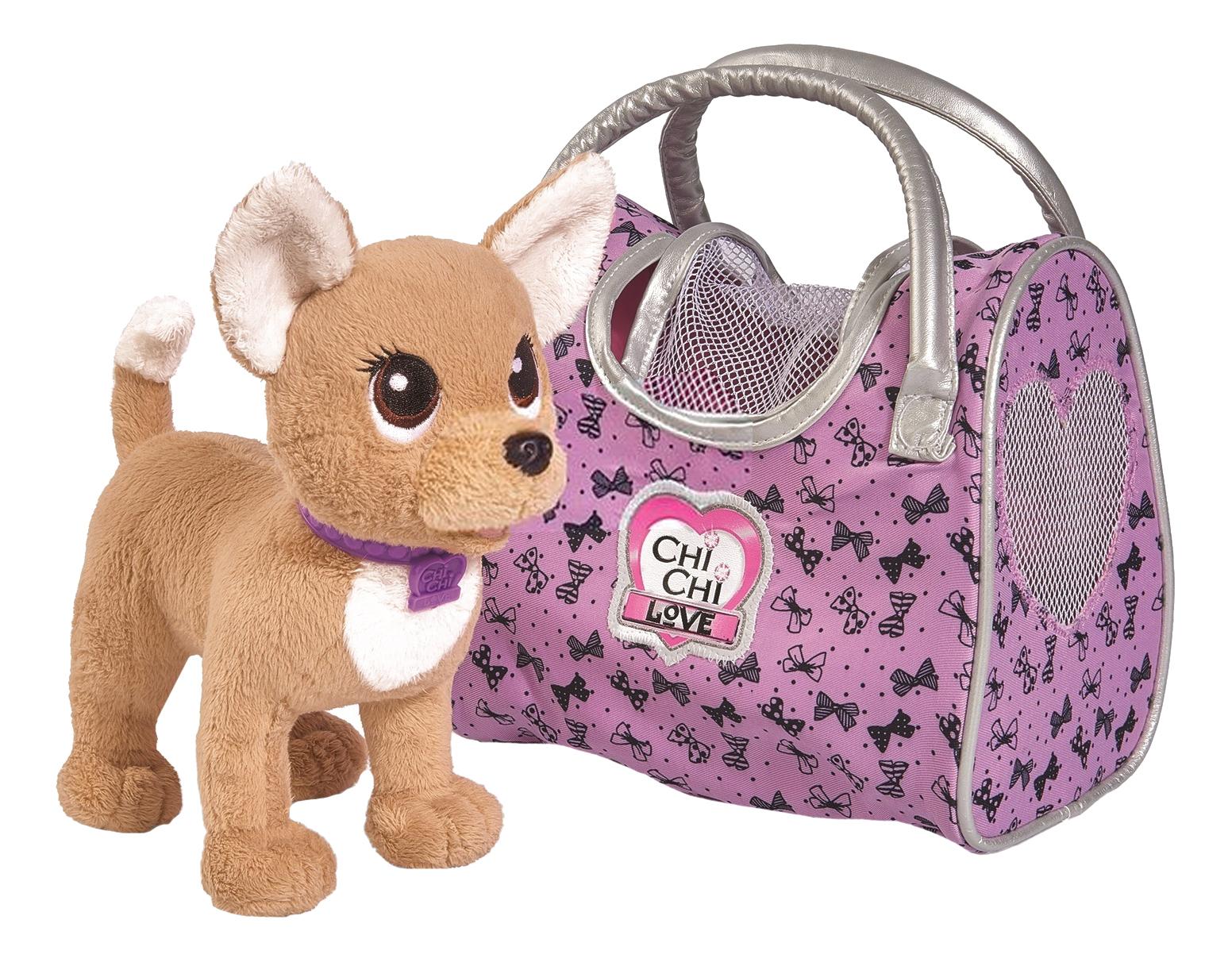 Мягкая игрушка Chi Chi Love собачка Путешественница с сумкой-переноской фото