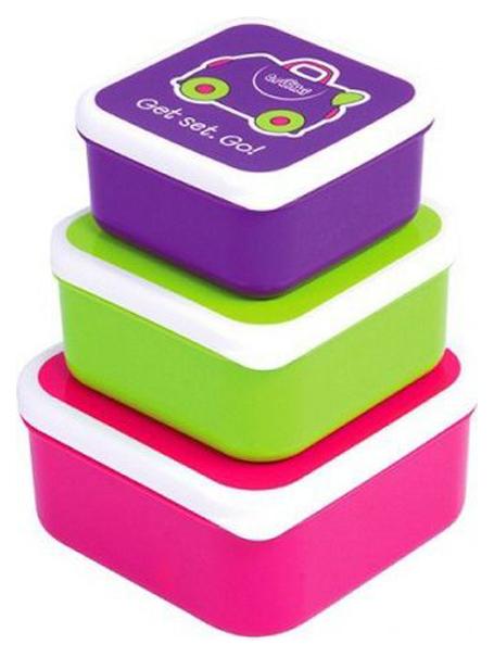 Купить Контейнеры для еды Trunki 0300-GB01 Розовый, Фиолетовый, Зеленый 3 шт, Контейнеры и пакеты для хранения грудного молока
