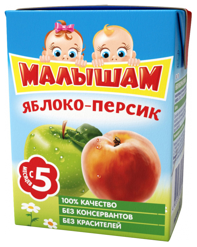 Нектар Малышам Яблоко и персик с