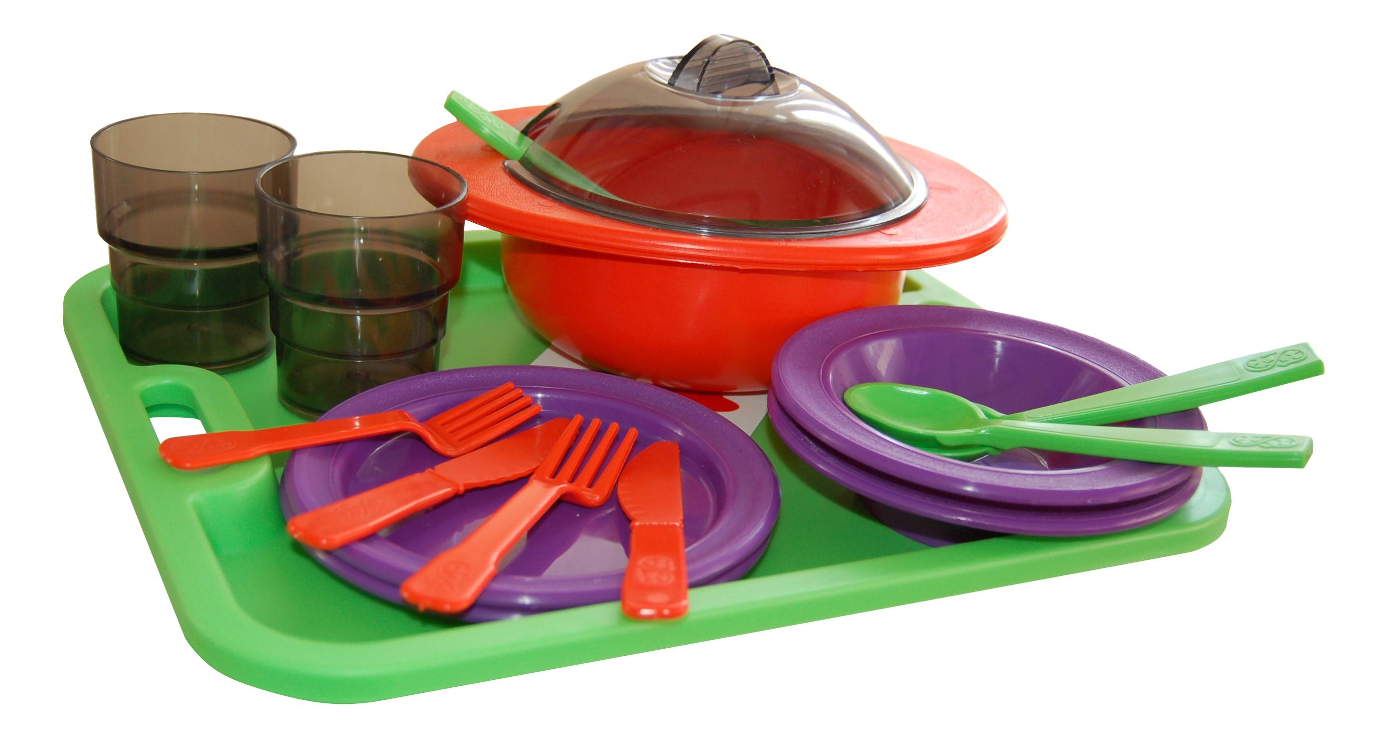 Набор посуды игрушечный ОГОНЕК Столовый набор