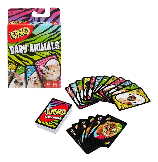 Настольная игра УНО Маленькие животные Mattel Games FLK78