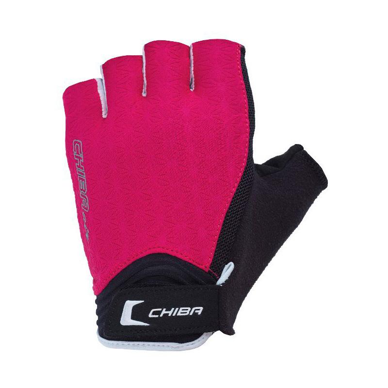 Перчатки для фитнеса и тяжелой атлетики Chiba Lady Air розово-белые XS