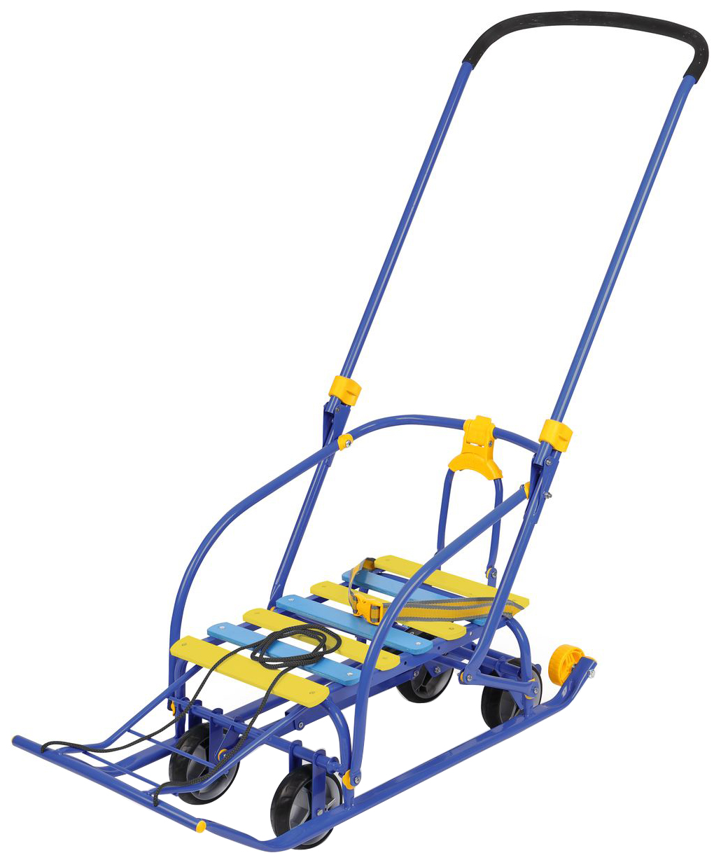 Санки Nika Nikki 3 механизм выдвижных колесных шасси N3/С Синий фото