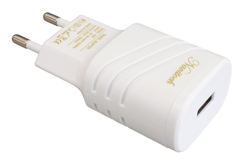 Сетевое зарядное устройство Navitoch 1 USB 1A White фото