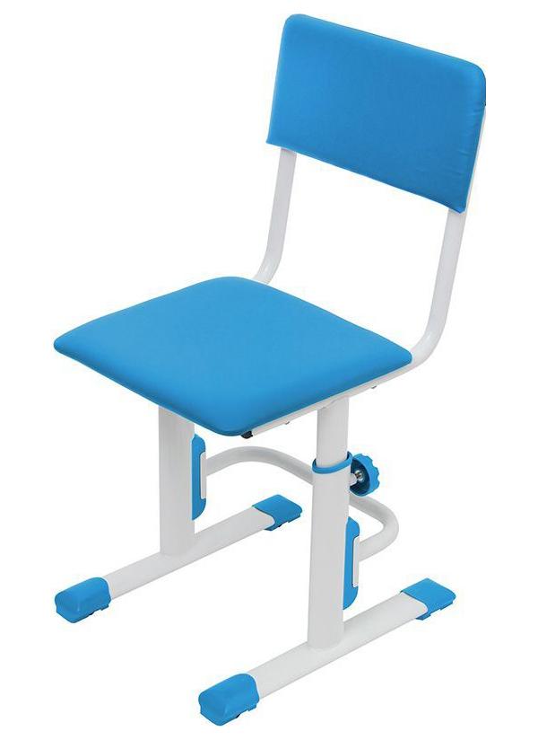 Детский стул для школьника регулируемый Polini Kids City/Polini Kids Smart S, Белый/Синий