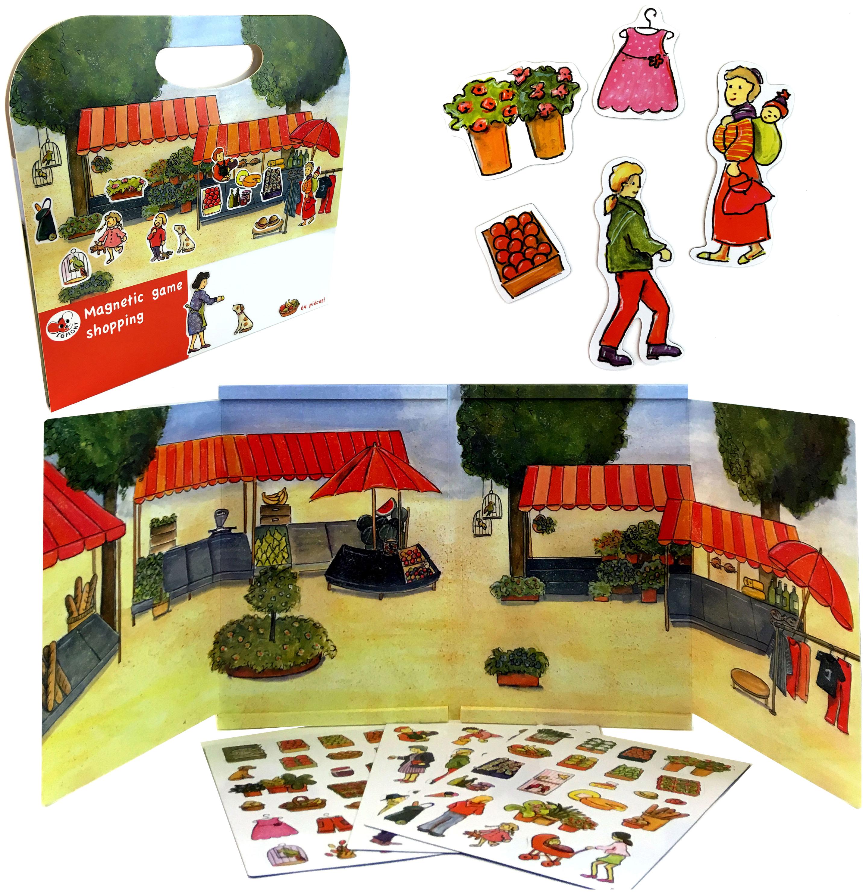 Купить Магнитная игра Egmont Toys За покупками, Семейные настольные игры