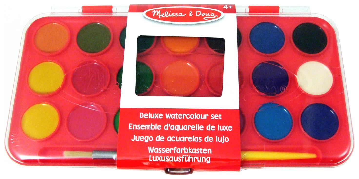 Купить Melissa and Doug Deluxe Watercolour Set, Набор для рисования Melissa and Doug Deluxe Watercolor Paint Set 21 цвет, Melissa & Doug, Наборы для рисования