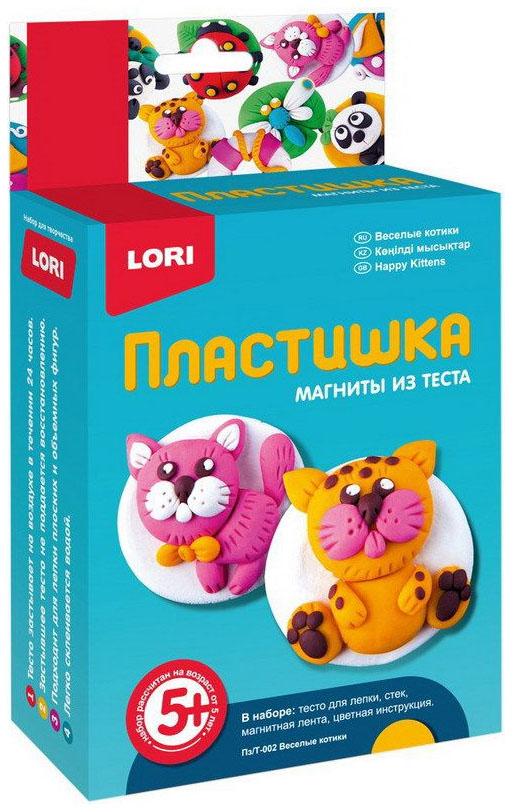 Купить Магниты из теста Лори Пластишка «Веселые котики», Lori, Лепка
