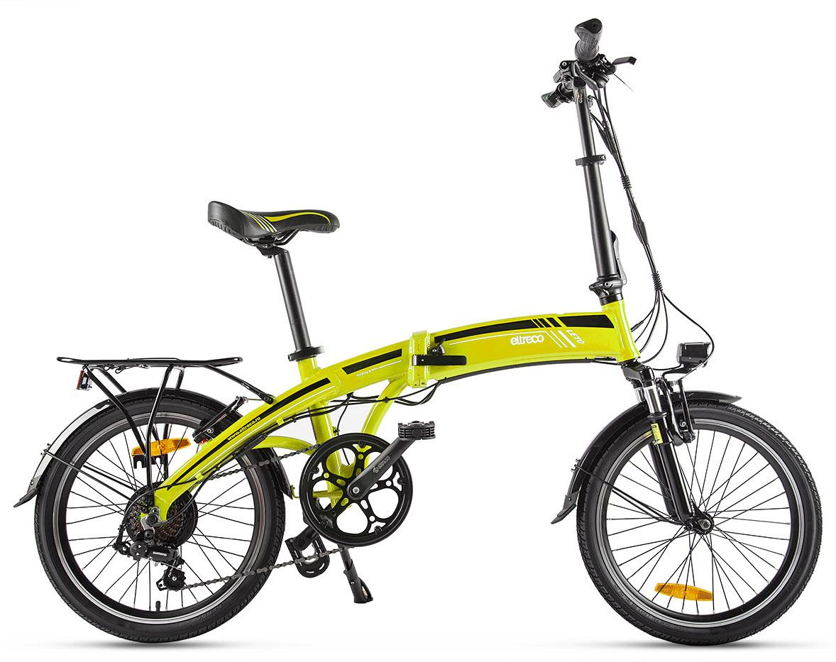 """Электровелосипед Eltreco Leto 2019 22.5"""" yellow"""