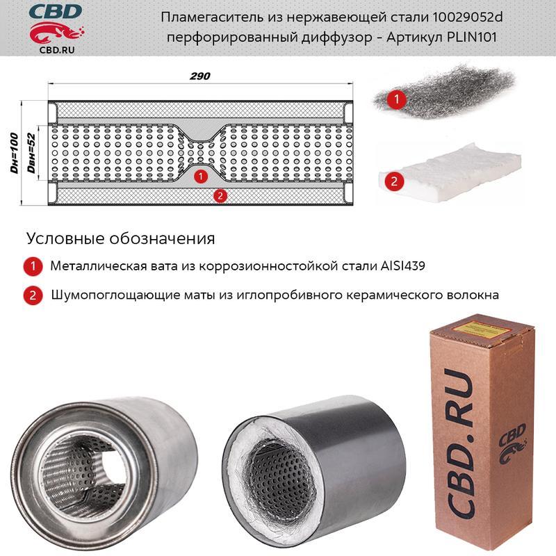 Пламегаситель универсальный CBD PLIN101