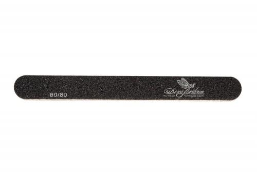 Купить Пилка для искусственных ногтей Dona Jerdona 80/80 овальная узкая черная