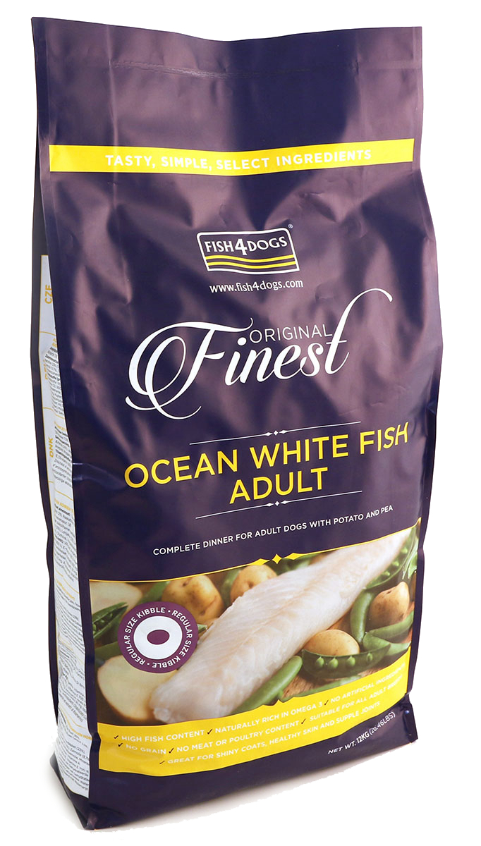 FISH4DOGS FINEST OCEAN WHITE FISH ADULT (REGULAR KIBBLE)  фото