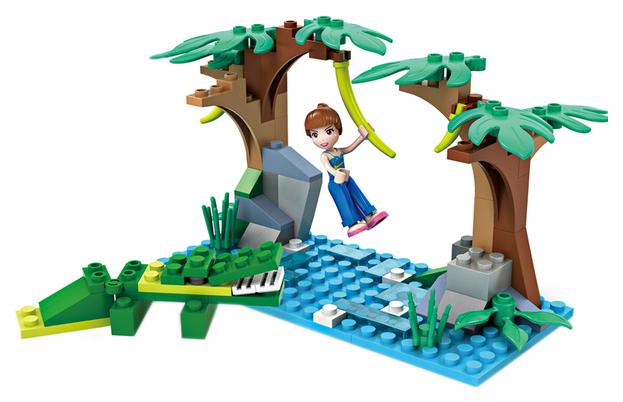Конструктор пластиковый Cogo Девчонки: путешествие в джунглях 90 деталей