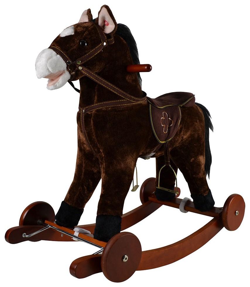 Купить Качалка-лошадка Pituso , коричневый, Качалки детские